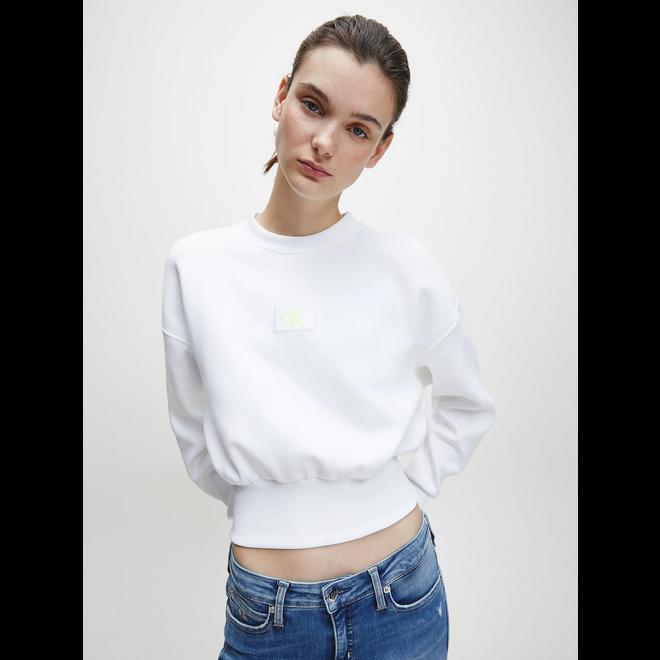 White Cropped Sweatshirt Women