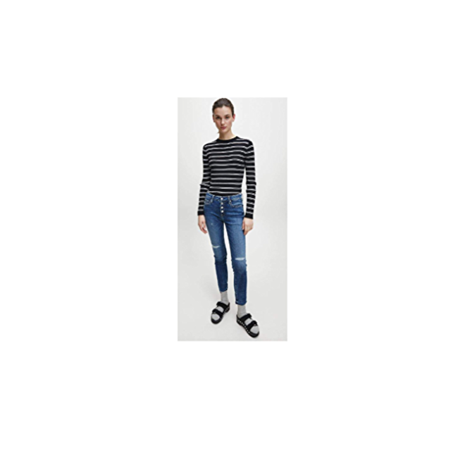 Mid Rise Skinny Ankle Jeans Women