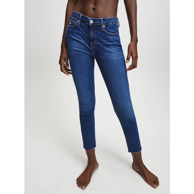 Women Mid Rise Skinny Ankle Jeans