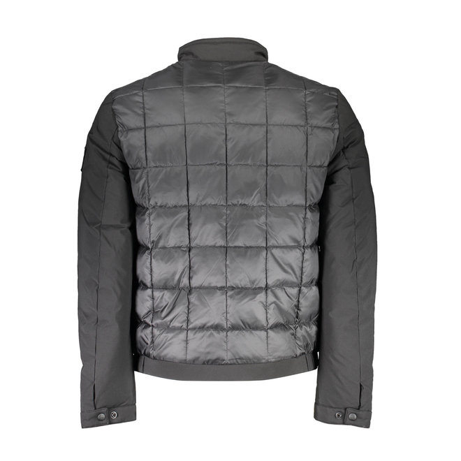Black Recycled Polyester Quilted Jacket Men