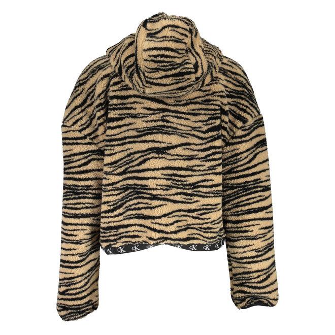 Zebra Sherpa Jacket Women