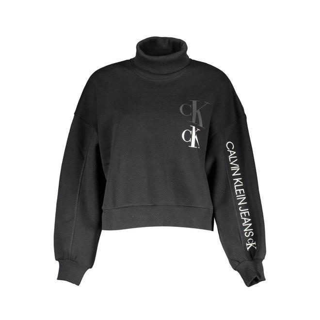 Black Roll Neck Sweatshirt Women