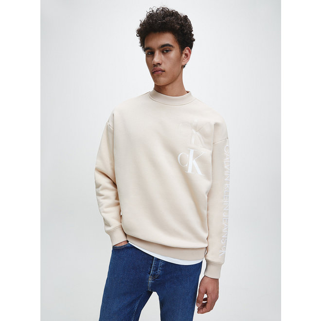 Eco Series sweatshirt van katoenmix - Irish Cream