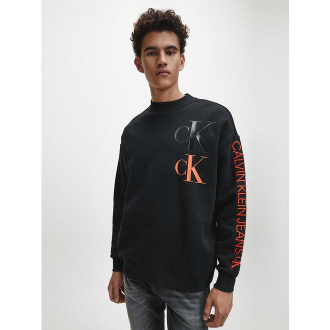 Eco Series sweatshirt van katoenmix - Black