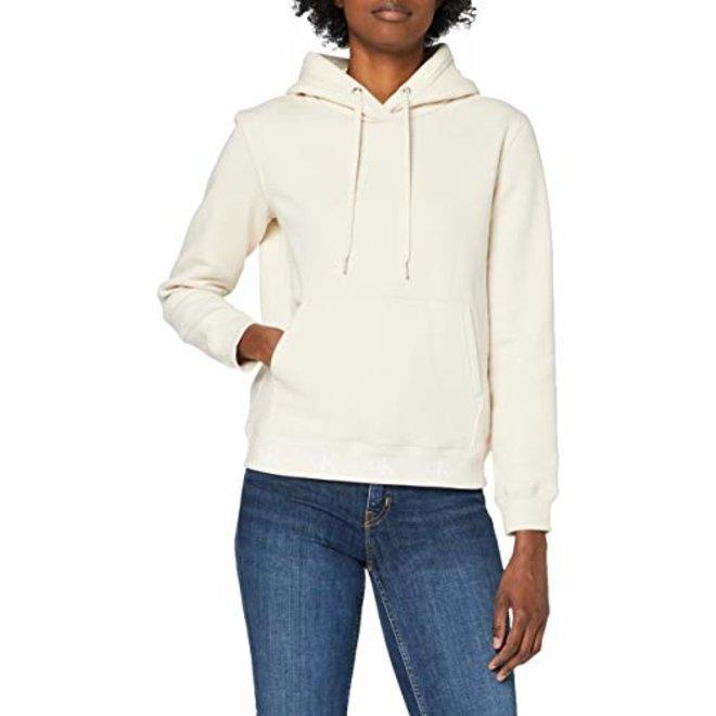 Women Eco Series Cotton Blend Hoodie - Beige