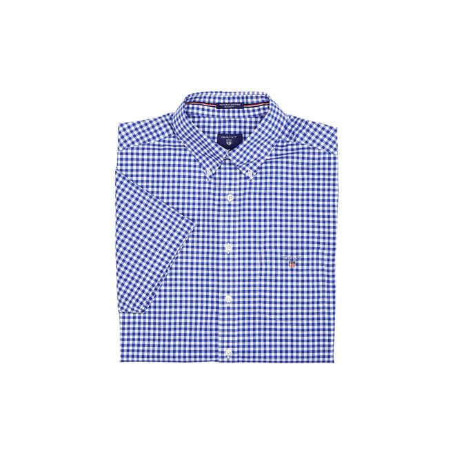 Gingham Poplin Short Sleeve Shirt Men