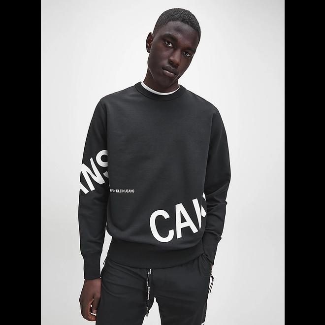 Black Stretch Fleece Logo Sweatshirt Men
