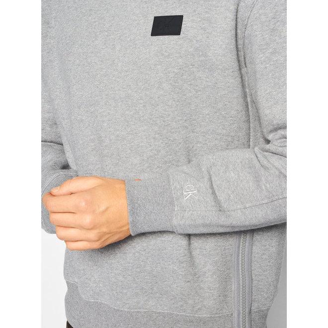 Grey Relaxed Side Zip Sweatshirt Men