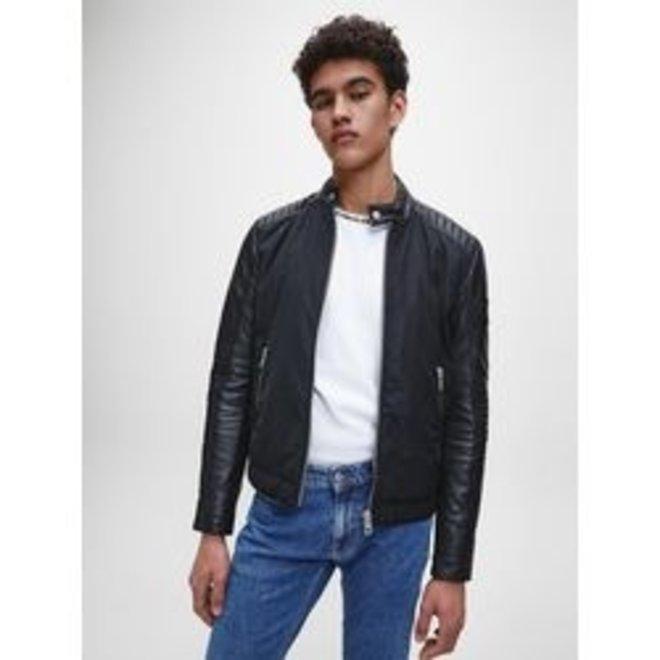 Black Faux Leather Jacket Men