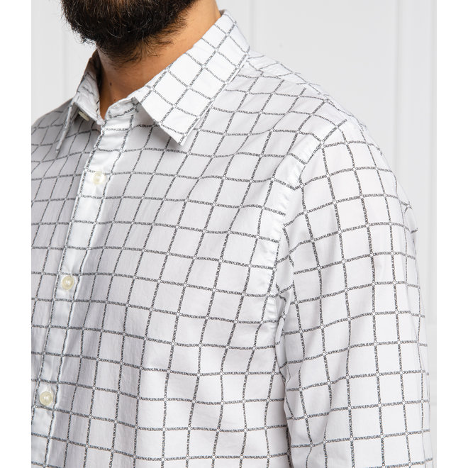 White Slim Fit Casual Shirt Men