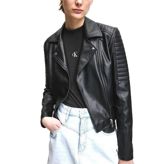 Faux Leather Biker Jacket Women