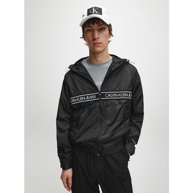 Black Hooded Zip Up Jacket Men