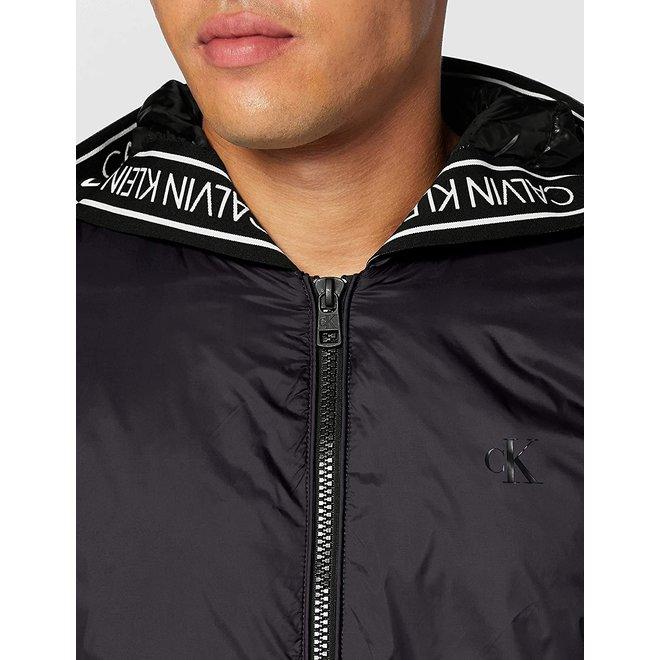 Black Logo Padded Jacket Men