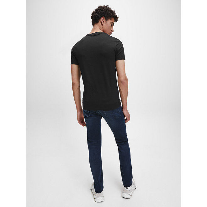 Black Organic Cotton New York Logo T-shirt Men