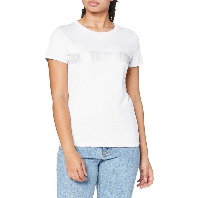 White Graphic Logo T-Shirt Women