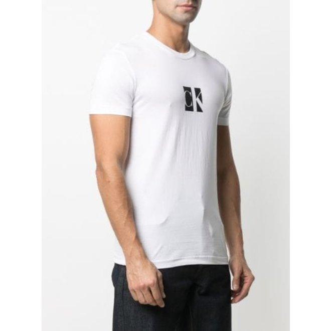 Slim organic cotton logo T-shirt - White