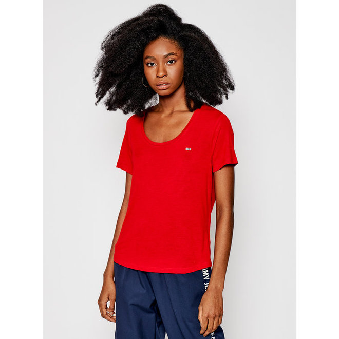 Linen Blend T-shirt Regular Fit - Red