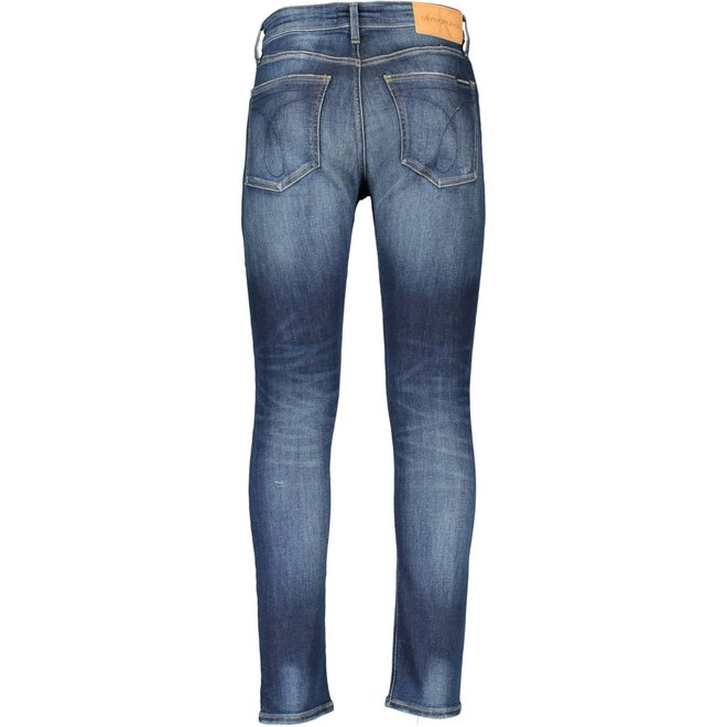 Dark Blue Destr Skinny Jeans Men