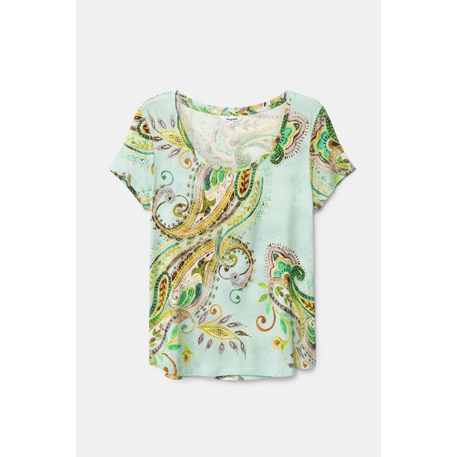 T-shirt short sleeve paisley Women