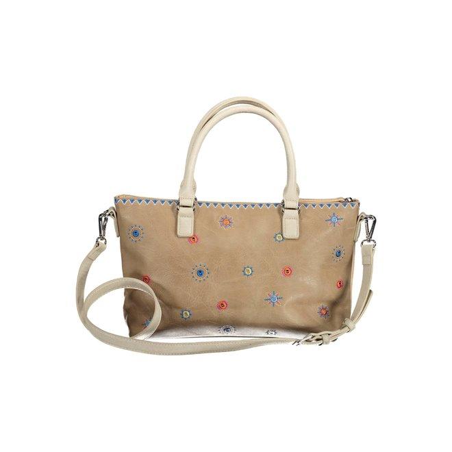 Multicolor handbag Cristal Moon Padua - Beige