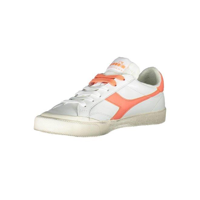 Melody Leather Sneakers Women - White/Orange