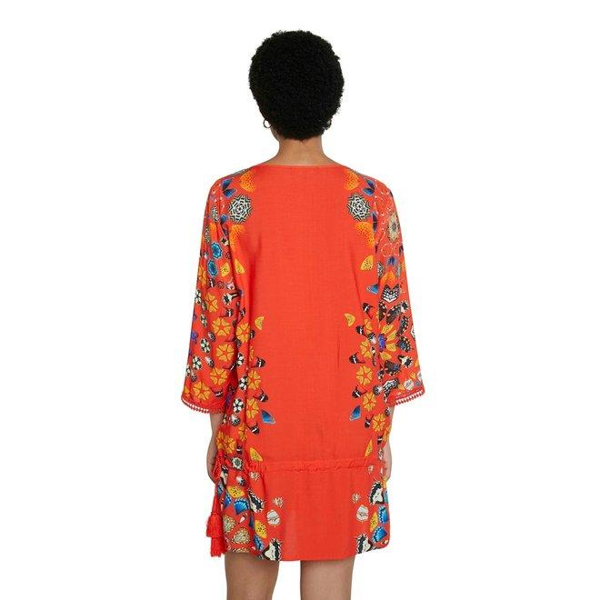 Short dress mandalas Women - Red