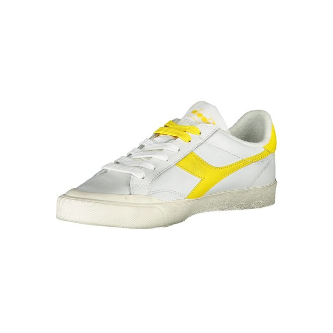 Melody Leather Sneakers Women - White/yellow