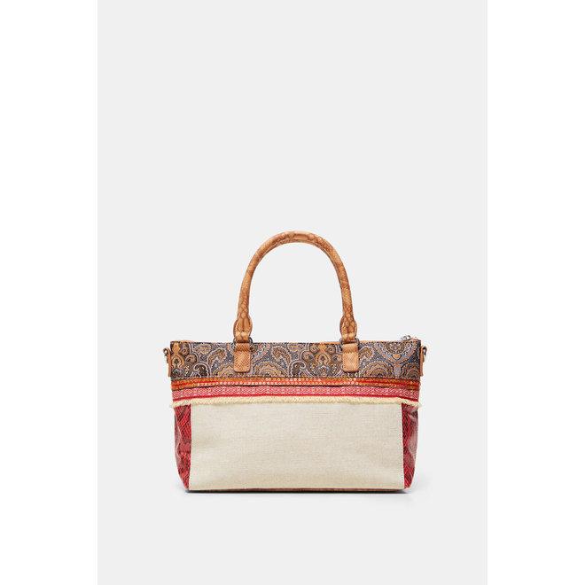Briefcase sling bag tri-patch
