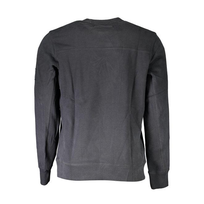 Organic Cotton Badge Sweatshirt - Black
