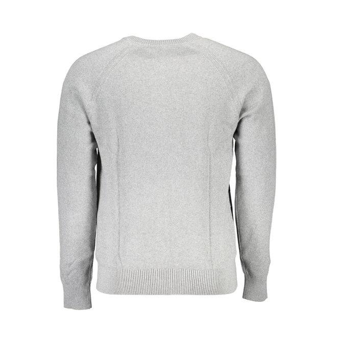 Combed Cotton Logo Jumper Men - Grey