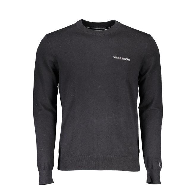Slim embroidered logo jumper - Black
