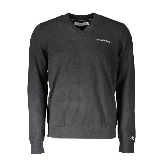 Cotton V-Neck jumper - Black