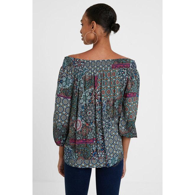 Boho flounced blouse