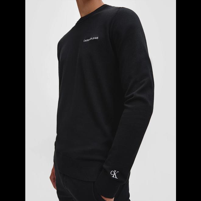 Cotton stretch jumper - Black