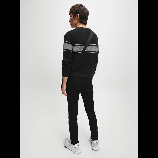 Cotton logo jumper  - Black