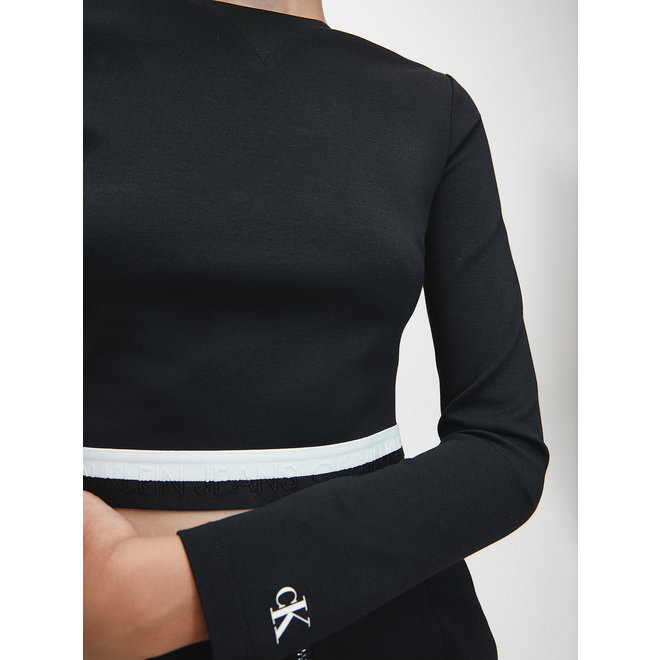 Milano Jersey Long Sleeve Top Women - Black