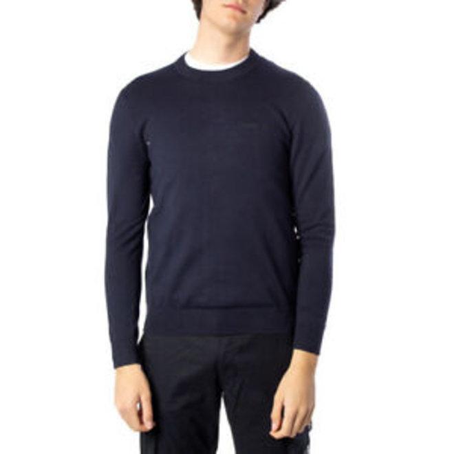 Slim embroidered logo jumper - Blue