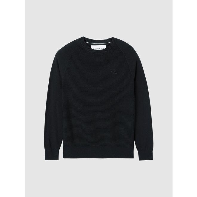 Cotton Cashmere Jumper Men - CK Black