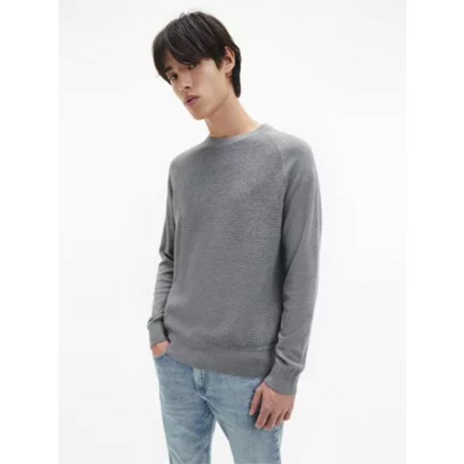 Cotton Cashmere Jumper Men - Grey
