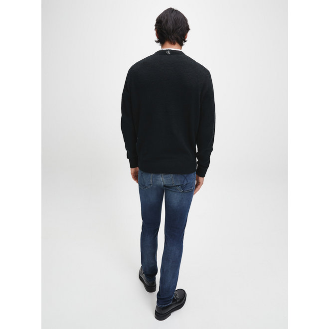 Cotton Wool Stretch Jumper Men - CK Black