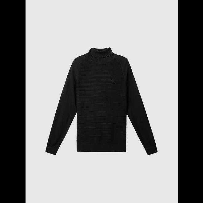 Cotton Cashmere Roll Neck Jumper Men - CK Black