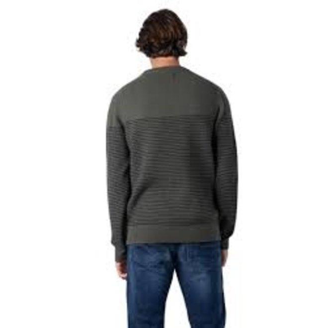Wool Textured Stripe Jumper Men - Green
