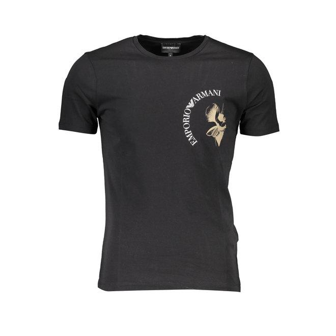 Black logo-print T-shirt Men