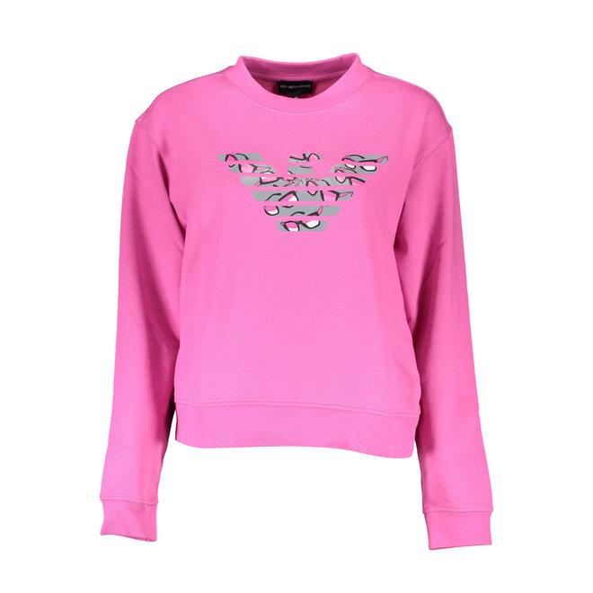 Sweatshirt with maxi eagle print Women - Pink