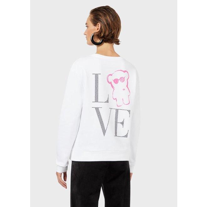 Manga Bear Love sweatshirt Women - White