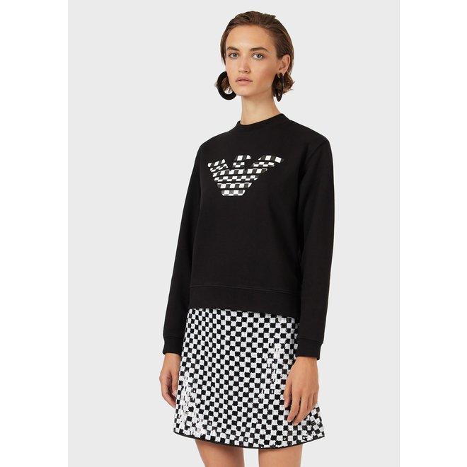Sweatshirt with maxi eagle print - Black