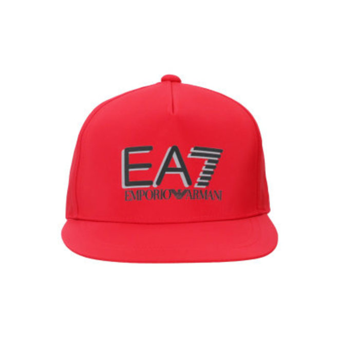 Baseball cap with EA7 logo Men - Red