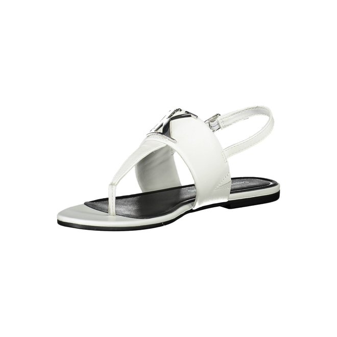 Leather CK Sandals - White