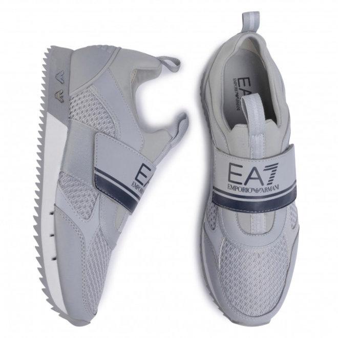 Men's EA7 Light  Mesh Straps Runner Trainers -Grey