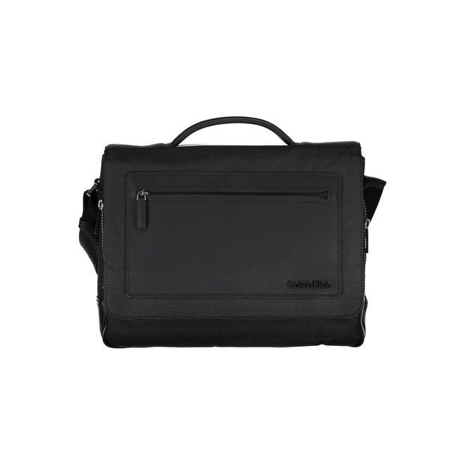 One Handle Laptop Shoulder bag men - Black